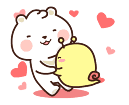 dou wha & mochi (In love) sticker #15883975