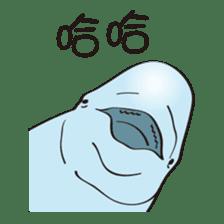 cute beluga whale sticker #15886516