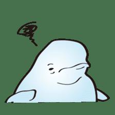 cute beluga whale sticker #15886540