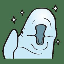 cute beluga whale sticker #15886543