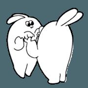 สติ๊กเกอร์ไลน์ rabbit ear man4