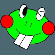 สติ๊กเกอร์ไลน์ DEBA Frog & Mrs. Rabi