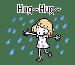 cartoon girl talk sticker #15894254