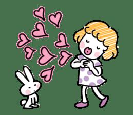 cartoon girl talk sticker #15894260