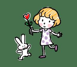 cartoon girl talk sticker #15894262