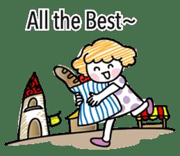 cartoon girl talk sticker #15894263