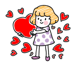 cartoon girl talk sticker #15894264