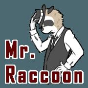 สติ๊กเกอร์ไลน์ Mr. Raccoon