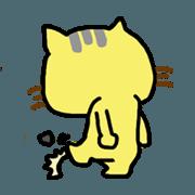 สติ๊กเกอร์ไลน์ Small yellow cat part two