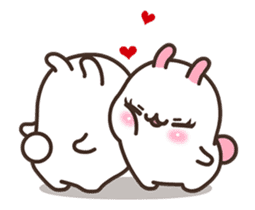 Cute Bunny Couple Ppoya & PpoPpo Ver.1 sticker #15897938