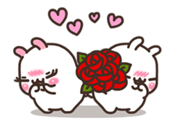 Cute Bunny Couple Ppoya & PpoPpo Ver.1 sticker #15897940