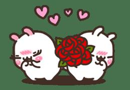 Cute Bunny Couple Ppoya & PpoPpo Ver.1 sticker #15897940