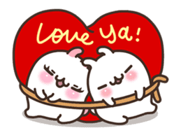 Cute Bunny Couple Ppoya & PpoPpo Ver.1 sticker #15897941