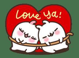 Cute Bunny Couple Ppoya & PpoPpo Ver.1 sticker #15897941