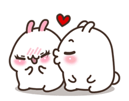 Cute Bunny Couple Ppoya & PpoPpo Ver.1 sticker #15897944