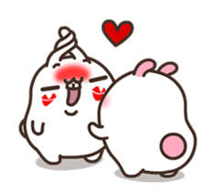 Cute Bunny Couple Ppoya & PpoPpo Ver.1 sticker #15897945