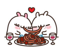 Cute Bunny Couple Ppoya & PpoPpo Ver.1 sticker #15897948