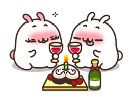 Cute Bunny Couple Ppoya & PpoPpo Ver.1 sticker #15897949