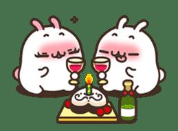 Cute Bunny Couple Ppoya & PpoPpo Ver.1 sticker #15897949