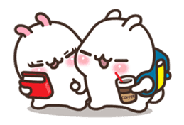 Cute Bunny Couple Ppoya & PpoPpo Ver.1 sticker #15897957