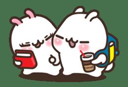 Cute Bunny Couple Ppoya & PpoPpo Ver.1 sticker #15897957