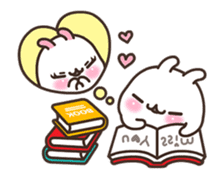 Cute Bunny Couple Ppoya & PpoPpo Ver.1 sticker #15897959