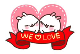 Cute Bunny Couple Ppoya & PpoPpo Ver.1 sticker #15897960