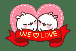 Cute Bunny Couple Ppoya & PpoPpo Ver.1 sticker #15897960