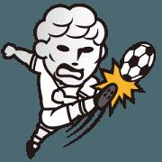 สติ๊กเกอร์ไลน์ BBM Official Stickers Soccer ver.1