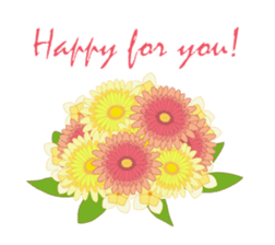 Send flowers with words. sticker #15917320