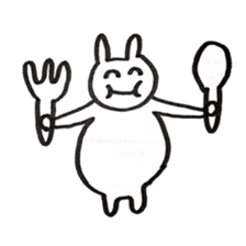the rabbit itend to use sticker #15920544