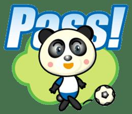 the panda play football sticker #15923698