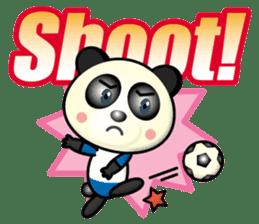 the panda play football sticker #15923699