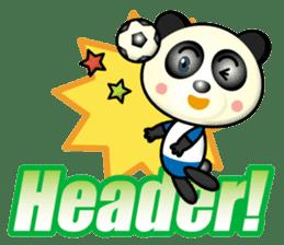 the panda play football sticker #15923700