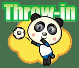 the panda play football sticker #15923703