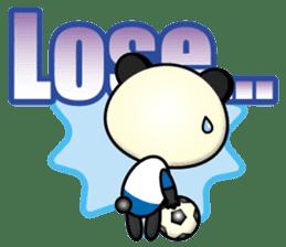 the panda play football sticker #15923704