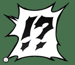 Manga dialogue 2 Hot blood sticker #15925099