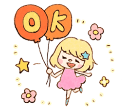 Dreamy Girl's Sticker sticker #15928988