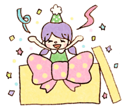 Dreamy Girl's Sticker sticker #15928991