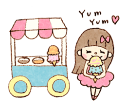 Dreamy Girl's Sticker sticker #15929020