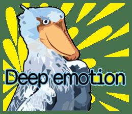 Sluggish bird Shoebill sticker #15929963