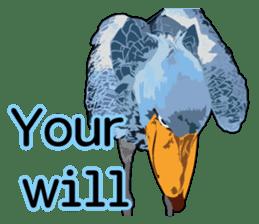 Sluggish bird Shoebill sticker #15929964