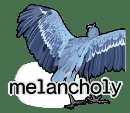 Sluggish bird Shoebill sticker #15929972