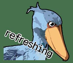 Sluggish bird Shoebill sticker #15929974