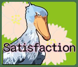 Sluggish bird Shoebill sticker #15929975