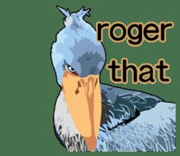 Sluggish bird Shoebill sticker #15929976