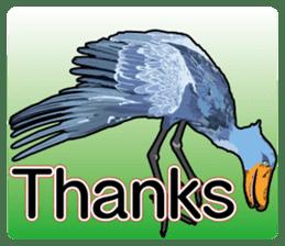 Sluggish bird Shoebill sticker #15929980
