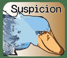 Sluggish bird Shoebill sticker #15929983