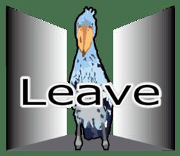 Sluggish bird Shoebill sticker #15929984