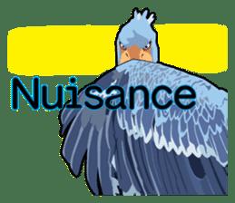 Sluggish bird Shoebill sticker #15929985